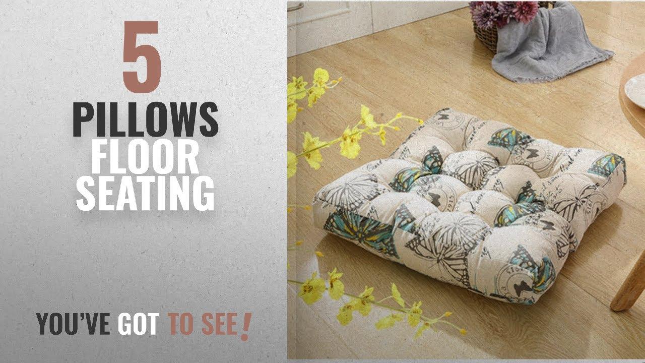 Top 10 Pillows Floor Seating [2018]: TMJJ Cotton Linen Floor Pillow ...