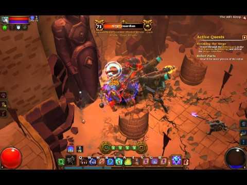 Torchlight 2 Shield Build Engineer vs Siege Guardian (part 1 of 2)