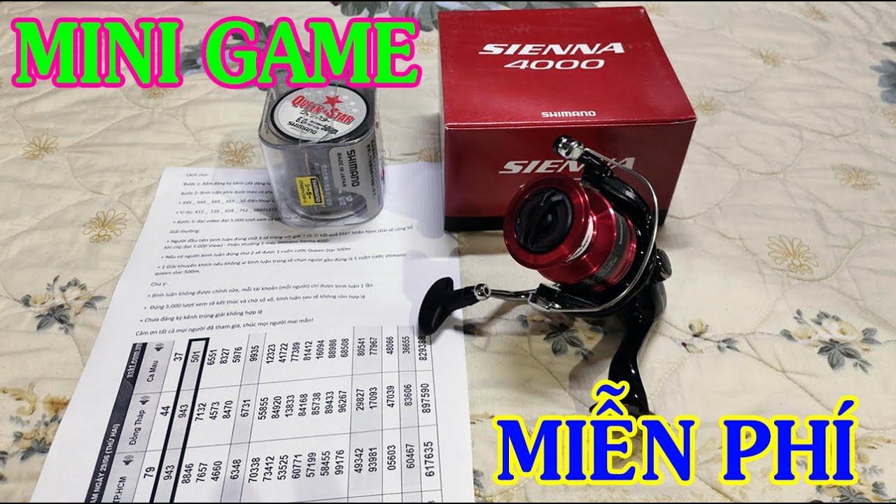 Mini Game Hoàn Toàn Miễn Phí Trúng Máy Shimano Sienna 4000 Và Cước Shimano