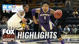 Huskies give Cal Bears their first conference win | FOX COLLEGE HOOPS HIGHLIGHTS