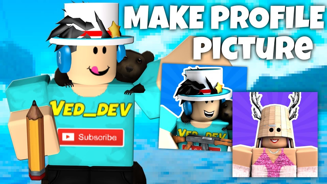 How To Create A Free Roblox Profile Picture Youtube