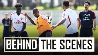 Drills, 1v1 and a Martinelli madness | Behind the scenes in Dubai