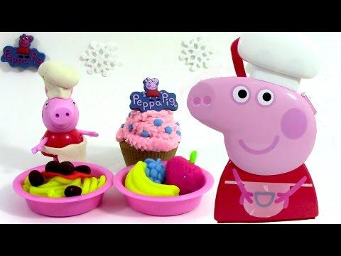 Pâte à modeler Peppa Pig Mallette du chef Boîte d'ustensiles Peppa Pig Carry Case Playset