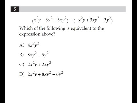 New SAT Math. Which of the following expressions is equivalent to the expression above