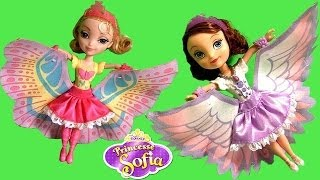 Sofia The First 2-in-1 Swan Dress Doll & Princess Amber Butterfly Dress Disney Masquerade Dolls