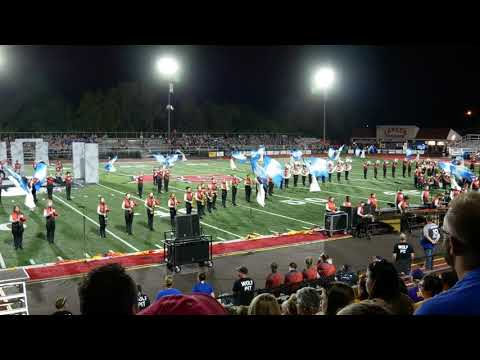 WKHS Marching Band at the 2018 La Salle Invitational