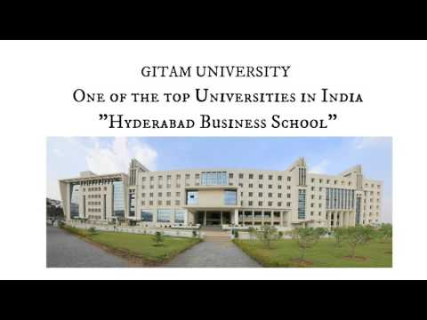 Gitam - Hyderabad Business School (HBS) | Intro video