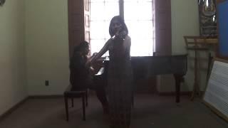 Samuel Barber - Violin Concerto Op. 16, 1er. mov. - Delina Pineda, Gabriela Ruiz