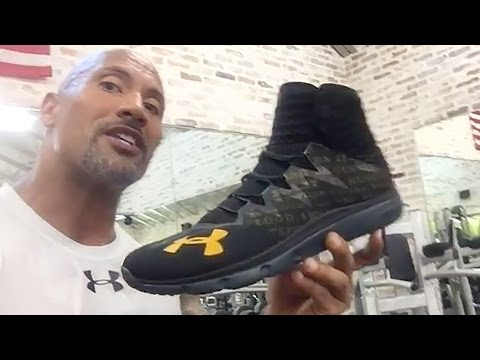 The Rock Unveils His New Shoe, Shows off Shoes Steph Curry Sent Him