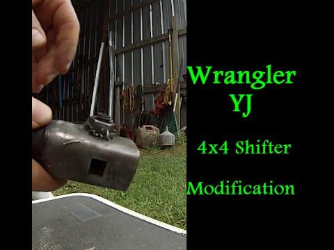 wrangler yj 4x4 shifter retaining clip modification transfer case
