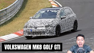 ALL NEW VOLKSWAGEN MK8 GOLF GTI SPIED ON THE RACETRACK