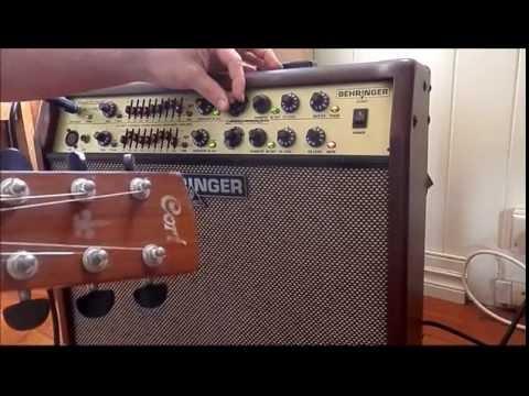 Behringer Acx1800 Acoustic Guitar Amplifier Review Demo Tutorial