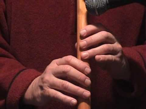 Amazing Grace 5 Hole Flute Part 1 of 2, How to Play Native American Flute Lesson  Ketih Davis