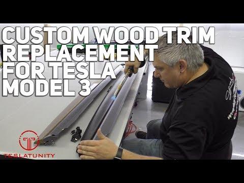 Custom Wood Trim Replacement For Tesla Model 3
