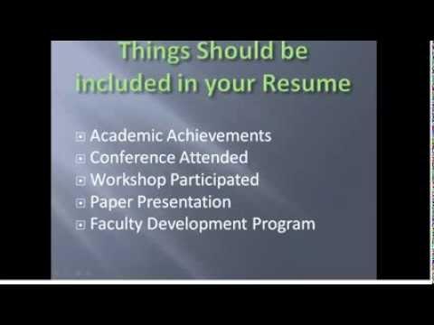 Lecturer Job Resume Preparation Tips