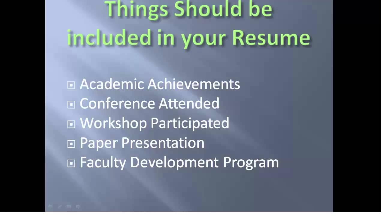 Lecturer Job Resume Preparation Tips YouTube