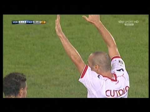 Hellas Verona 2-2 Padova gol di Cutolo 16-9-2011 ...