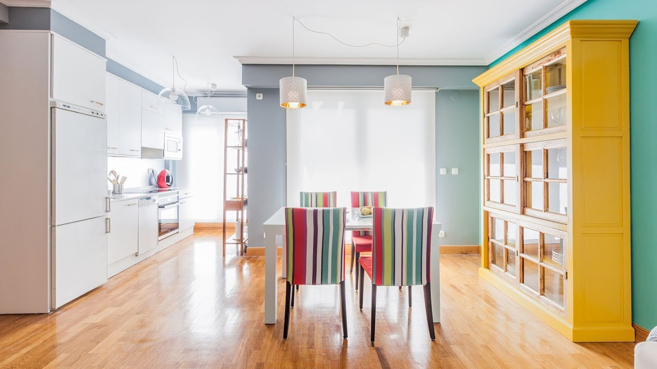 Programa completo integrar un salon comedor colorido con for Comedor completo a la meta