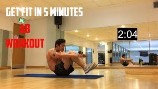 how to get fit in 5 minutes ab burner workout