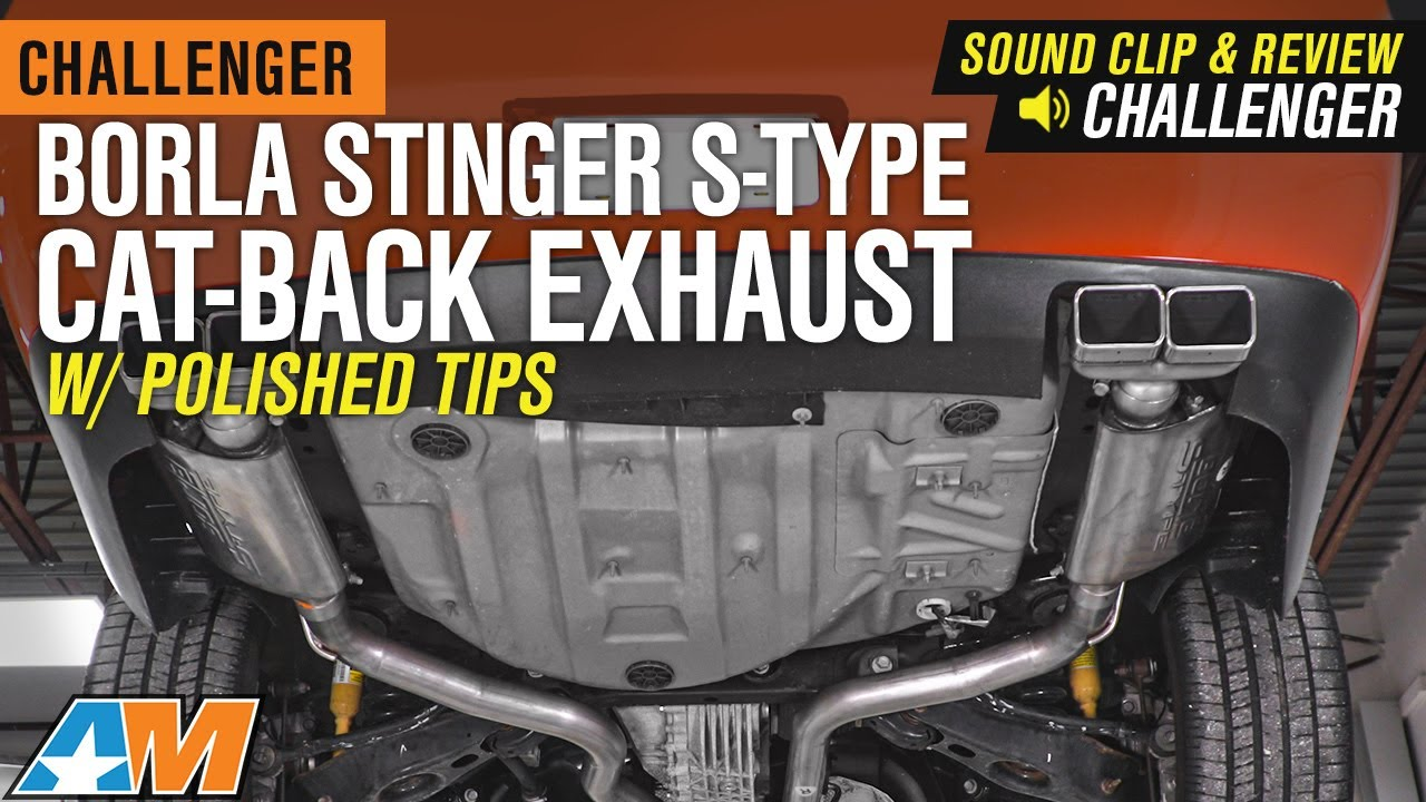 2009 2014 challenger 5 7l borla stinger s type cat back exhaust w polished tips sound clip review