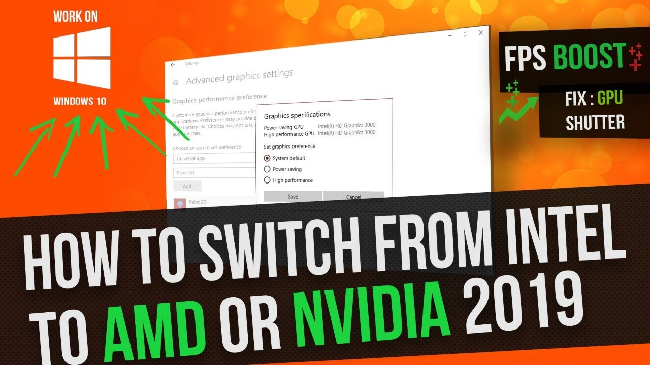how to switch from Intel HD graphics to dedicated AMD or Nvidia graphics  card new method