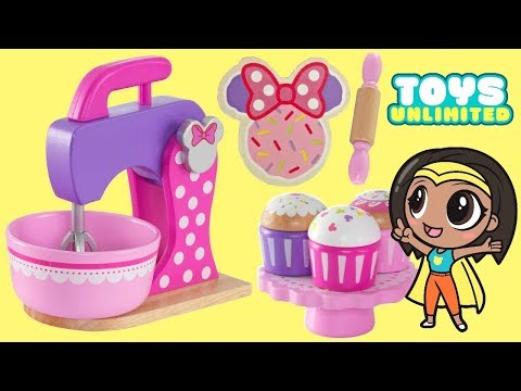 Thumbnail: Disney Jr. Minnie Mouse Deluxe Baking Set & Treats, Play-doh Cookies Cupcakes Magical Oven / TUYC