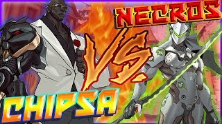ChipSa VS Necros (ft. Purge) Top 10 anime battles [with chat and POV from both sides]