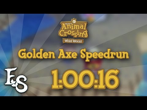Animal Crossing: Wild World - Golden Axe Speedrun in 1:00:16 [PB]