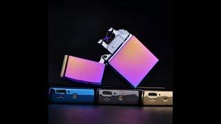 Электроимпульсная USB зажигалка с двойной дугой - видеообзор!