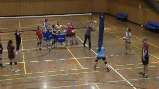 The Melbourne University Renegades Volleyball - Women - training on 3-11-2014