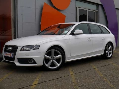 2008 audi a4 avant s line 2 0tdi 143 white for sale in hampshire youtube. Black Bedroom Furniture Sets. Home Design Ideas