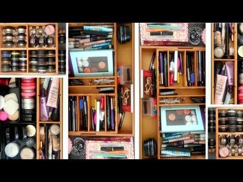 makeup storage bamboo drawer organizers youtube. Black Bedroom Furniture Sets. Home Design Ideas
