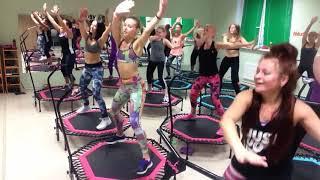 "Jumping Fitness ""СТИЛЁВО""|  Фитнес на батуте | choreo by Lena Prudnikova"