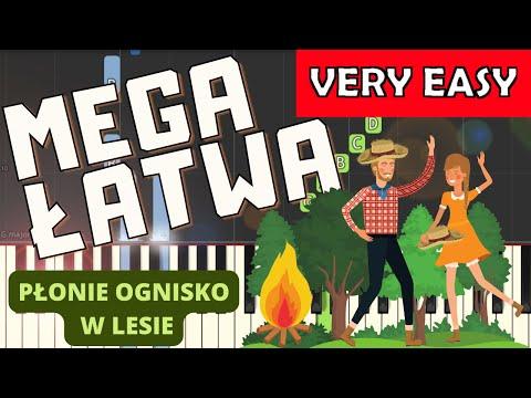 🎹 Płonie ognisko w lesie - Piano Tutorial (MEGA ŁATWA wersja) 🎹