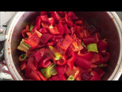 Կարմիր պղպեղը տոմատի մածուկի մեջ, красный перец в томатном соусе, Red Pepper In Tomato Paste