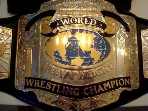 real wccw wcwa heavyweight championship belt youtube