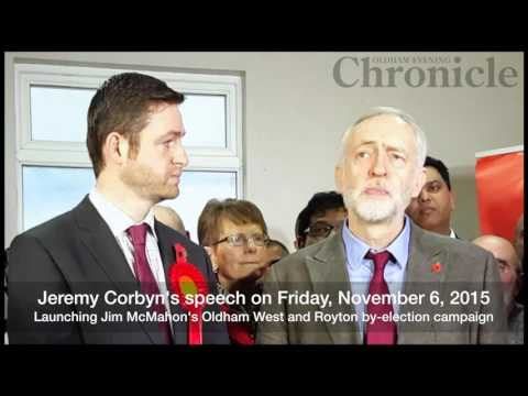 Jeremy Corbyn launches Jim McMahon