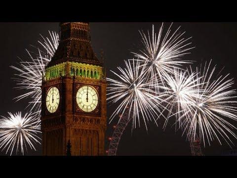 2018 New Year - Big Ben Chimes Midnight