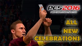 PES 2016 New Celebrations!!