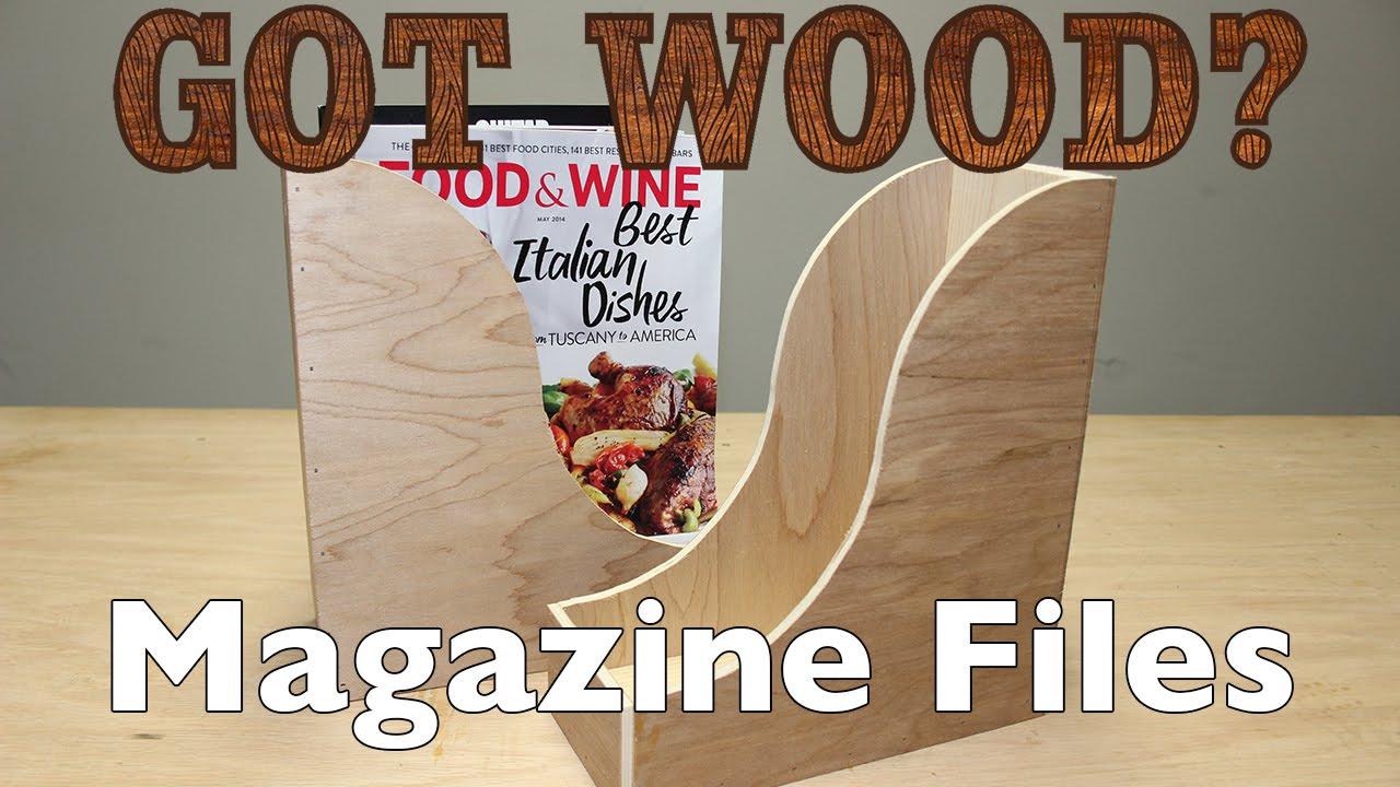 Make Some Wooden Magazine Files - YouTube