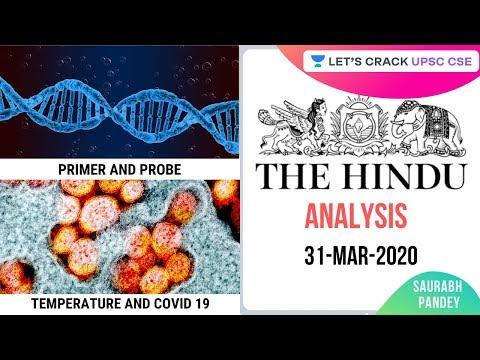 31-Mar-2020 | The Hindu Newspaper Analysis | Current Affairs For UPSC 2020/2021 | Saurabh Pandey