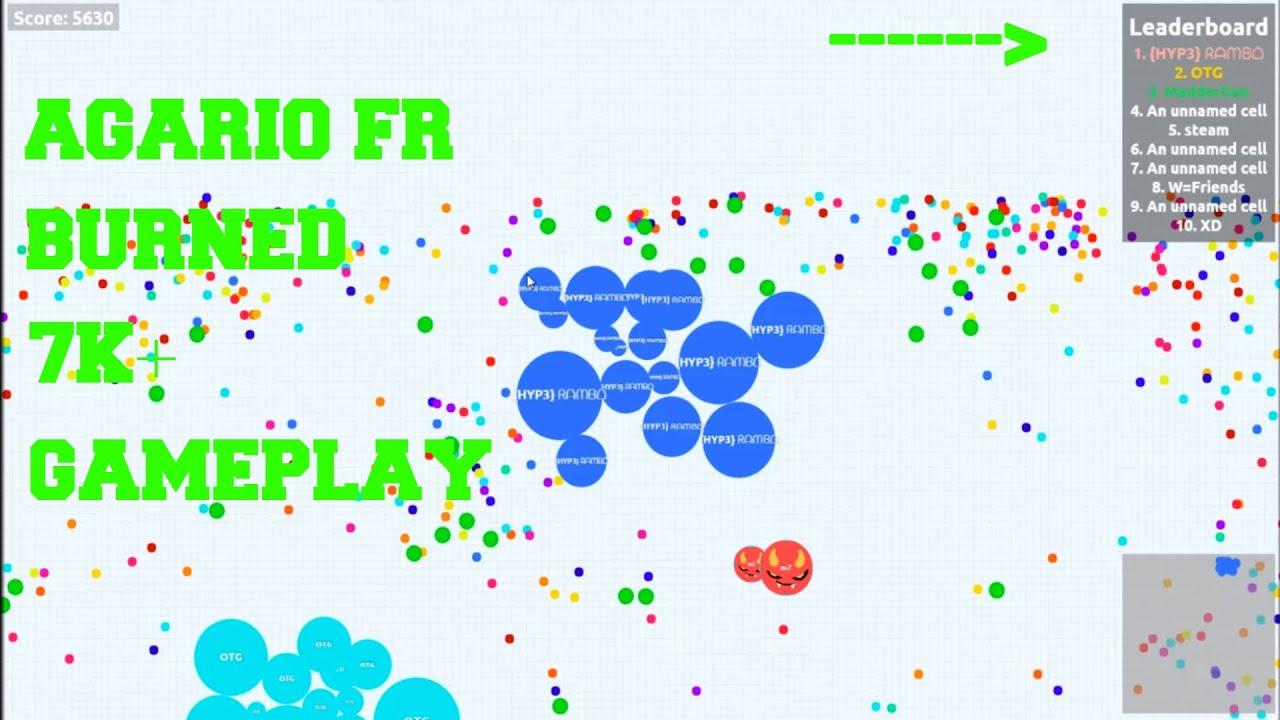 Agariofr omg - 1st place!! | agario fr(7,271) fire fr gameplay | agariofr