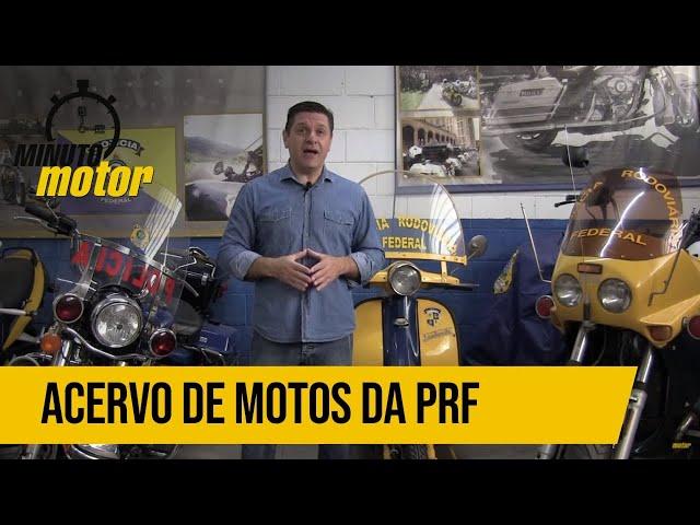 EXCLUSIVO: MINUTOMOTOR VISITA O ACERVO DE MOTOS DA PRF