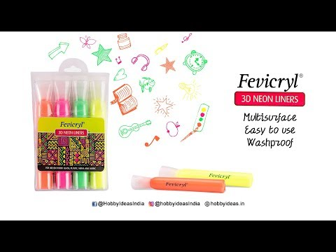 Fevicryl's 3D Neon Liners