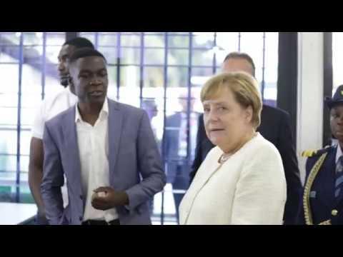 Chancellor Angela Merkel Visits Impact Hub Accra