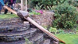 Moving a Large Rockery Stone