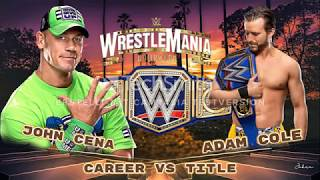 Wrestlemania 37 Offical Card