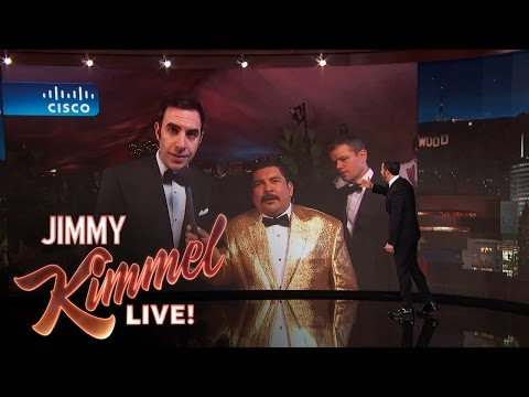 Sacha Baron Cohen and the Idiot Matt Damon LIVE from the Governor's Ball