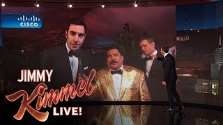 sacha baron cohen and the idiot matt damon live from the governors ball