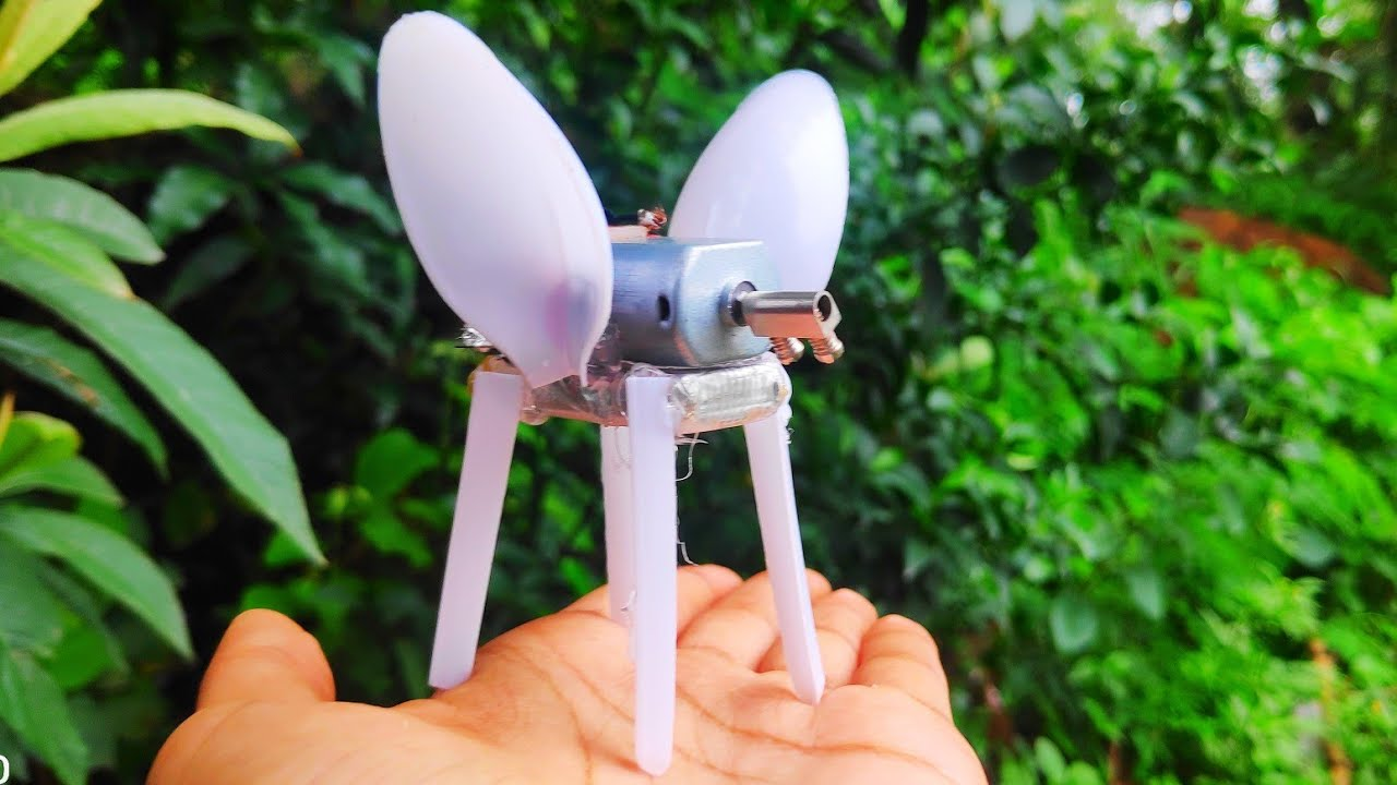 Download HOW TO MAKE A CRAZY WALKING INSECT AT HOME | WALKING INSECT ROBOT WITH DC MOTOR